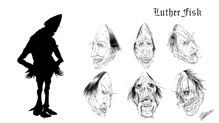 Luther Fisk Silhouette/Facial Expressions